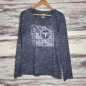 Tennesee Titans football longsleeve burnout shirt